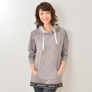 marie claire/bis UVウエストロゴプルパーカー【QVC】40代・50代レディースファッション