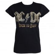 tricou stil metal femei AC-DC - Rock Or Bust - PLASTIC HEAD - PH9293G