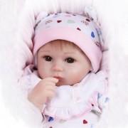 "SLB Works Brand New 17"" Handmade Lifelike Baby Girl Doll Silicone Vinyl Reborn Newborn Dolls Gift"