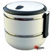 Dvoukomorový Lunch Box - přepravka na jídlo 1,4 litru - Eldom TM 140 bílý
