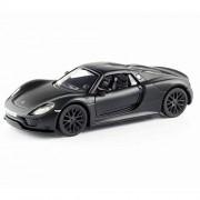 RMZ City Porsche 918 Spyder Matte Black 1/36 Diecast Model Car