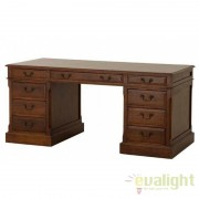 Birou elegant design regal din lemn de stejar British maro 101507 HZ