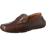 Clarks Men's Davont Saddle Brown Tumb Leather Loafers and Mocassins - 6.5 UK