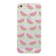 GadgetBay Coque en TPU Pastèque iPhone 5 5s et SE Couvre-fruit translucide vert rose
