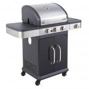 Cook'in Garden - Barbecue au gaz FIDGI 3 avec thermomètre - 3 brûleurs + réchaud 10,6kW