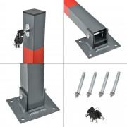 [neu.haus]® Barrera de parking / Barrera de aparcamiento - Acero galvanizado - Inclinación rápida - 65cm