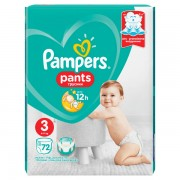 Pampers pelene gaćice Pants Active Baby Giant Pack S3, 72 komada