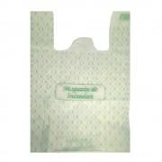 Pungi Biodegradabile Albe, Model Imprimat 27x8x50 cm, 500 Buc/Bax - Ambalaje Ecologice