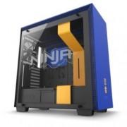 Кутия NZXT H700i Smart Ninja Edition, E-ATX, M-ATX, Mini-ITX, 2x USB 3.1, 4x включени вентилатора, RGB, прозорец от закалено стъкло, синя/черна, без захранване