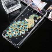 Fevelove Para Samsung Galaxy S8 Diamantes Incrustados Peacock Patron Tpu Protector Caso Cubierta Trasera