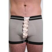 Tumbler & Tipsy Box and Cox Underwear Vintage Ruffle Grey/Black Boxer Brief