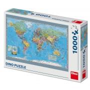 PUZZLE - HARTA POLITICA A LUMII (1000 PIESE) - DINO TOYS (532489)