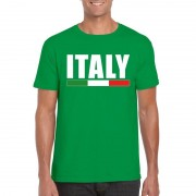 Bellatio Decorations Groen Italie supporter shirt heren