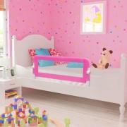 vidaXL Ограничители за бебешко легло, 2 бр, розови, 102x42 см