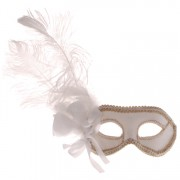 Venetiaans masker wit met goud