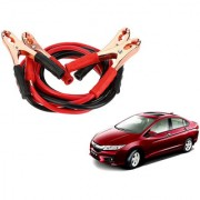 Auto Addict Premium Quality Car 500 Amp Heavy Duty Copper Core Tangle Battery Booster Cable 7.5 Ft For Honda Idtec (2014-Present)
