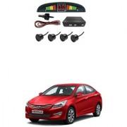KunjZone Car Reverse Parking Sensor Black With LED Display Parking Sensor For Hyundai Fluidic Verna 4S
