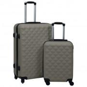vidaXL 2 db antracitszürke ABS keményfalú gurulós bőrönd