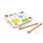 JANOD Cymbałki 5 tonów z serii Confetti - drewniany instrument dla dzieci