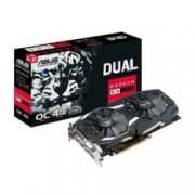 Видео карта AMD Radeon RX 580, 4GB, ASUS DUAL RX580 O4G, PCI-E 3.0, GDDR5, 256 bit, DVI, HDMI, DP