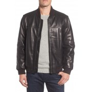 Marc New York by Andrew Marc Summit Leather Bomber Jacket BLACK