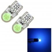 2 Pcs T10 W5W DC 12V 1W 60LM Coche Luz Luces De Posición LED Con Decodificador, Luz Azul