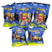 Grossery Gang Season 1 Pack - Include 14 Collector Cards & Figure 5 Blind Packs/Bags