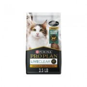 Purina Pro Plan LiveClear Probiotic Chicken & Rice Formula Dry Cat Food, 3.5-lb bag