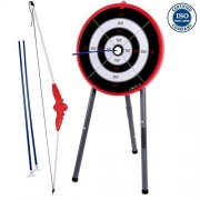 Cirocco Mini Dartboard Set Target for Kids Portable Dart Game w/ 3 Soft Tips & Stand | Safe Kit for Children Adult Family Bar Sport Tournament Relax Office Hobby Fun Leisure Camping Party Game Room