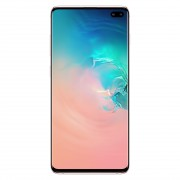 Samsung Galaxy S10 + G9750 Qualcomm Snapdragon 855 8Go/512Go Dual Sim avec protection d'écran et étui pliant (Noir) Débloqué - Céramique Blanche