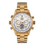 【90%OFF】MM-08 ステンレスベルト シースルー トリプルカレンダー クロノグラフ ウォッチ ゴールド/シルバー ファッション > 腕時計~~メンズ 腕時計