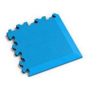 Modrý vinylový plastový rohový nájezd 2026 (kůže), Fortelock - délka 14 cm, šířka 14 cm a výška 0,7 cm