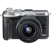Canon EOS M6 + 15-45mm IS + 55-200mm IS - Zilver