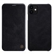 NILLKIN Qin Leather Folio Card Holder Phone Cover for iPhone 11 6.1 inch (2019) - Black