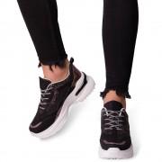 Pantofi sport dama Tazara, Negru 38