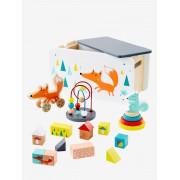 VERTBAUDET Caixa de brinquedos Raposa, multiatividades laranja medio liso com motivo