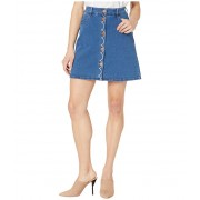 See by Chloe Washed Denim Skirt Truly Navy