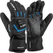 Leki Junior Glove GRIFFIN S black/cyan
