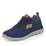 Skechers Flex Advantage 2.0 - The Happs Sneaker - Herren - blau in Größe 44