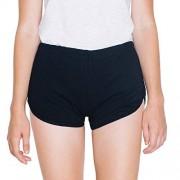 American Apparel Women's Interlock Running Short (7301)(Black, L)