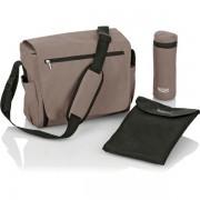 Geanta termica camping pentru schimbat bebelusi Britax Nursery Bag Fossil Brown (Bej)