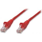 Kabel mrežni Intellinet, Cat5e, U/UTP, RJ45-M/RJ45-M, 0.5 m, crveni