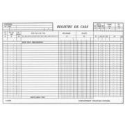 Registru de casa orizontal 100 file
