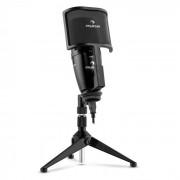 Auna Studio-Pro Micrófono condensador USB membrana grande Trípode Filtro antipop y antiviento