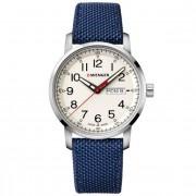 Wenger Attitude Heritage Reloj de cuarzo acero inoxidable crem-white-blue