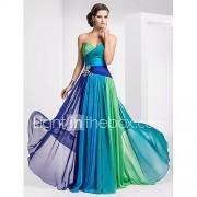A-lijn strapless lieveheersbeestje vloerlengte chiffon prom jurkje met kristal door ts couture