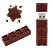 Jiangym Almacenamiento Externo Unidades Flash USB Disco USB Chocolate Creativo U de 64 GB Unidades Flash USB