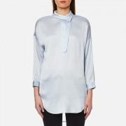 Selected Femme Women's Augusta 7/8 Shirt - Xenon Blue - UK 12/EU 38 - Blue