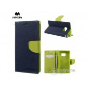 Husa piele Mercurycase Fancy Diary pentru Samsung Galaxy S7 (SM-G930), albastru inchis