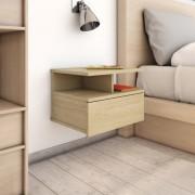 vidaXL Нощни шкафчета за стена, 2 бр, дъб сонома, 40x31x27 см, ПДЧ